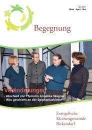 Veränderungen - Evangelische Kirchengemeinde Bickendorf