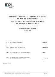 reglement relatif a l'examen d'aptitude en vue de l'inscription sur la ...