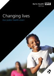 ambitions for public health - Barts Health NHS Trust