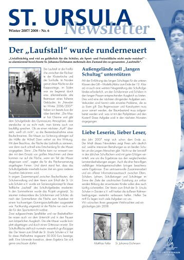 """Der """"Laufstall"""" wurde runderneuert - Gymnasium St. Ursula Dorsten"""