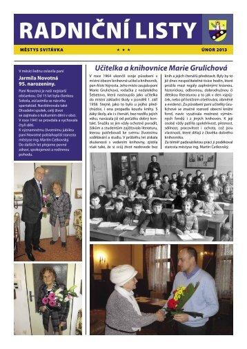 radničních listů 02/2013 - Svitávka