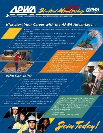 sign up - American Public Works Association