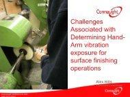Arm vibration exposure for surface finishing operations - BOHS