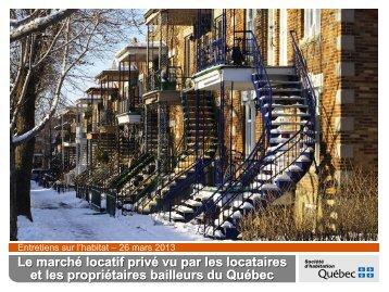 Le marché locatif privé vu par les locataires et les propriétaires ...