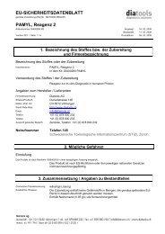 EU-SICHERHEITSDATENBLATT PAMYL, Reagenz 2 - diatools AG