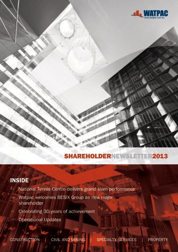 Shareholder Newsletter 2013 - Watpac