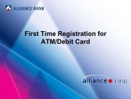 First Time Registration for ATM/Debit Card - Alliance Bank Malaysia ...
