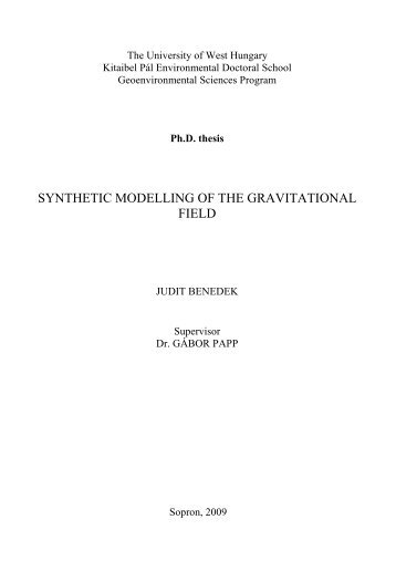 SYNTHETIC MODELLING OF THE GRAVITATIONAL FIELD