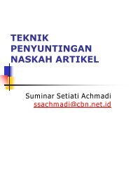 TEKNIK PENYUNTINGAN ARTIKEL ILMIAH - TELKOMNIKA