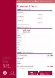 Enrolment Form - Cardiff School of Art and Design