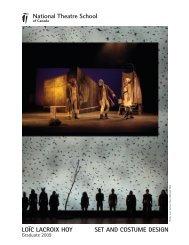 loïc lacroix hoy set and costume design - École nationale de théâtre