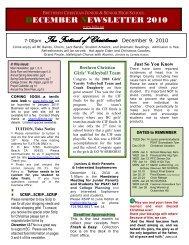 2010 December - Brethren Christian Junior & Senior High School