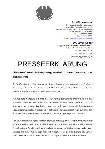 Pressemitteilung Lars Lindemann vom 10. Februar (PDF ... - LAOH