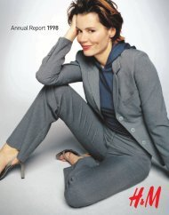 Annual report 1998 in English - About H&M