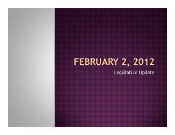 2012 MidWinter Conference Legislative Update - ACTEAz
