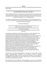 Antwort des Ministeriums für Wirtschaft, Arbeit ... - Daniela Behrens