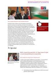 BM Dr. Claudia Schmied/LHStv. Dr. Sepp Leitner ... - SPÖ Strengberg