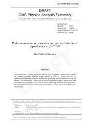 Performance of muon reconstruction and identification in pp ...