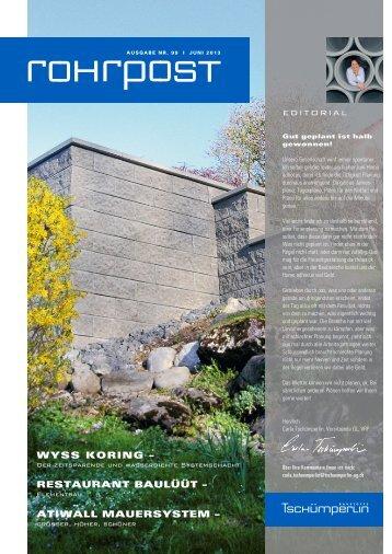 2013 Ausgabe Juni - A. Tschümperlin AG