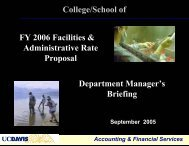 Department Manager's Briefings, Sept. 2005 (PDF) - UCDavis ...