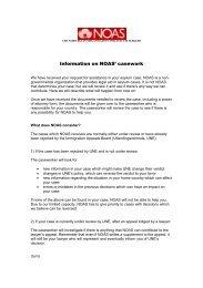 Informasjon om rettshjelpen til NOAS – engelsk
