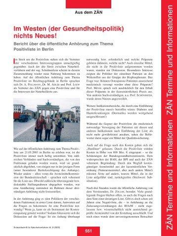 Heft 08 neu - Zentralverband der Ärzte für Naturheilverfahren