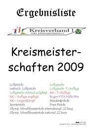 Ergebnisse Kreismeisterschaft 2009