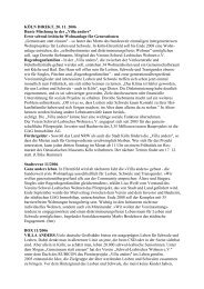 "KÖLN DIREKT, 20. 11. 2006 Bunte Mischung in der ""Villa anders ..."