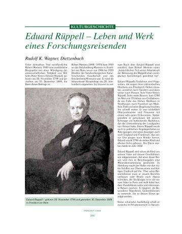 Eduard Rüppell – Leben und Werk eines Forschungsreisenden