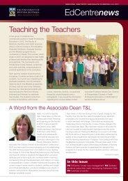 EdCentre News June 2010 - The University of Western Australia