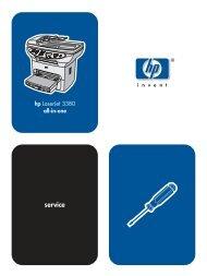 HP LaserJet 3380 all-in-one service manual - ENWW