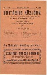 1918 - Magyarországi Unitárius Egyház