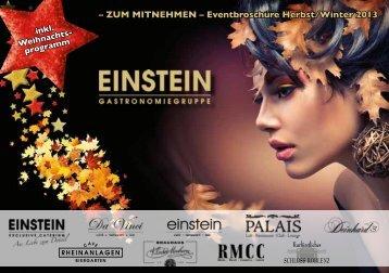 Eventbroschüre - Einstein Gastronomiegruppe