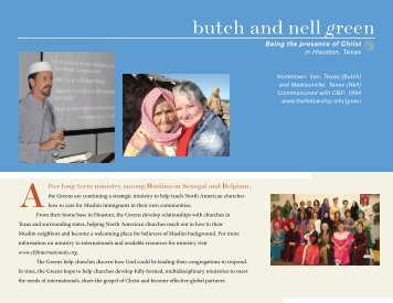 butch and nell green - Cooperative Baptist Fellowship Internationals ...