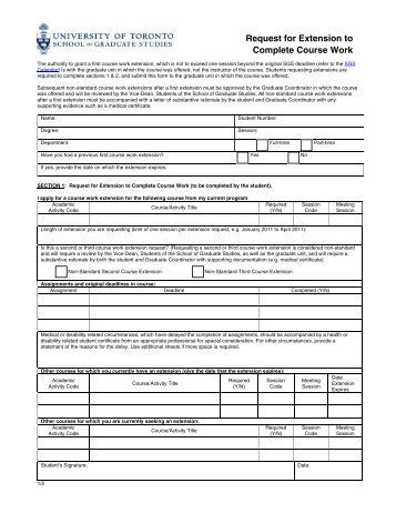 coursework extension form rgu