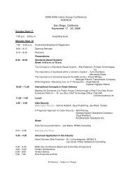 2006 AgendaFinal.pdf - EMS Users Conference