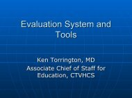 Evaluation System and Tools - Healthcare Professionals