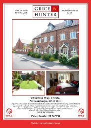 Price Guide: £124950 20 Saffron Way, Crowle, Nr ... - Grice & Hunter