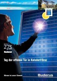 Tag der offenen Tür in Kalsdorf/Graz - Austria Solar