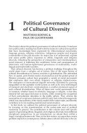 Introduction: Political governance of cultural diversity - Ashgate