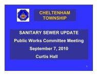 SANITARY SEWER UPDATE Public Works Committee Meeting ...