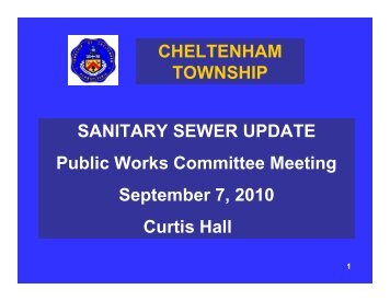 SANITARY SEWER UPDATE Public Works Committee Meeting ...