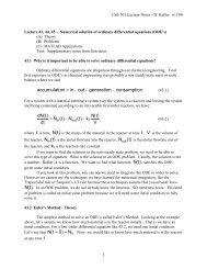 Solutions of Ordinary Differential Equations