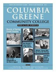 C-GCC Spring 2011 News & Class Schedule - Columbia-Greene ...