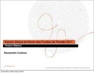 Estudo Global de Ativos dos Fundos de Pensão 2011 - Funcef