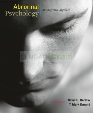 Abnormal Psychology: An Integrative Approach, 6th ed.