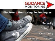 Guidance Monitoring sponsor presentation