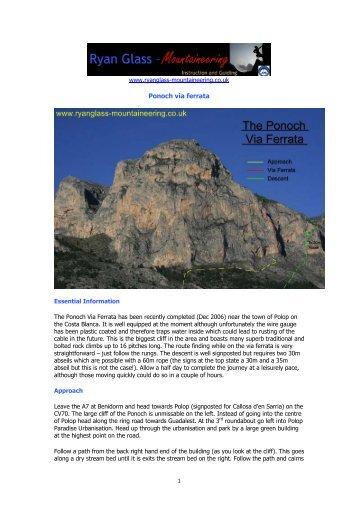 Ponoch via ferrata - Ryan Glass Mountaineering
