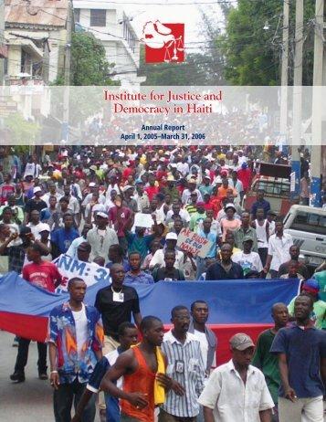 IJDH Annual Report, April 1, 2005 – March 21, 2006 - Institute for ...