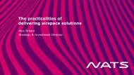 (b) The practicalities of delivering airspace solutions
